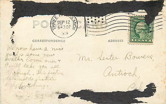1919 postcard back